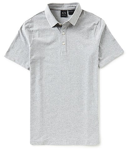 Armani Exchange Solid Jersey Short-Sleeve Polo Shirt