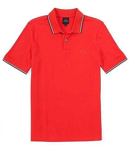 Armani Exchange Slim-Fit Tipped Collar Short-Sleeve Polo Shirt