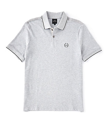 Armani Exchange Slim-Fit Tipped Pique Short-Sleeve Polo Shirt