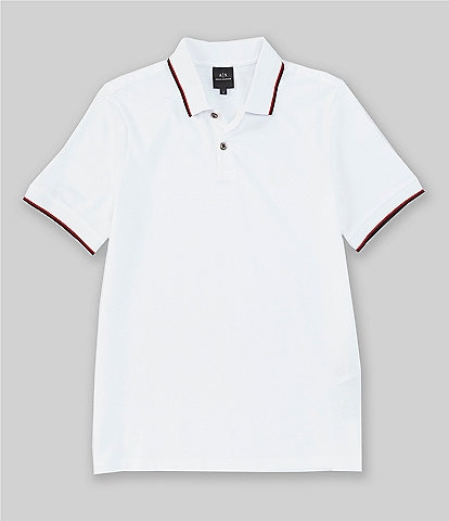Armani Exchange Tipped Pique Short-Sleeve Polo Shirt