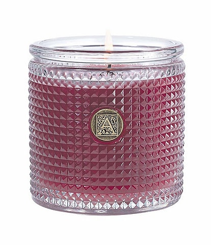 Aromatique Vanilla Rosewater® Textured Glass Candle