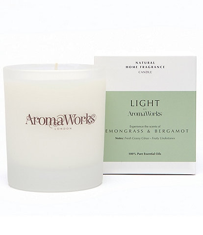 AromaWorks London Light Range - Lemongrass & Bergamot Medium Candle