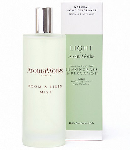 AromaWorks London Light Range - Lemongrass & Bergamot Room Mist