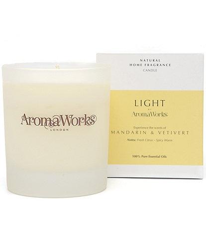 AromaWorks London Light Range - Mandarin & Vetivert Medium Candle