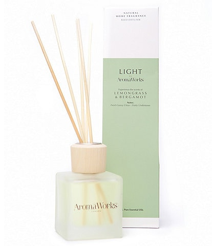 AromaWorks London Light Range - Small Lemongrass & Bergamot Reed Diffuser