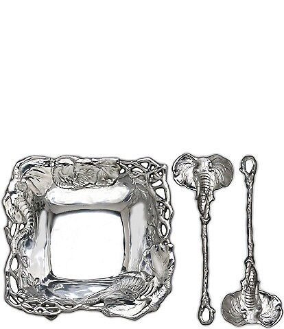 Arthur Court Elephant 3-Piece Salad Set