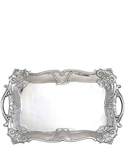 Arthur Court Fleur-de-Lis Rectangular Tray with Handles