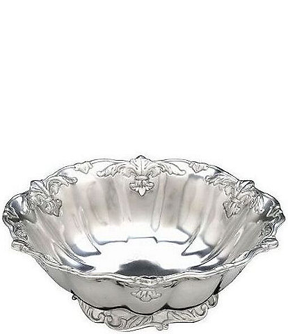 Arthur Court Fleur-de-Lis Large Salad Bowl