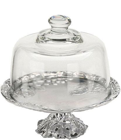 Arthur Court Grape Mini Cake Plate with Glass Dome