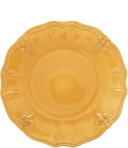 Artimino Beaded Fleur-de-Lis Earthenware Salad Plate
