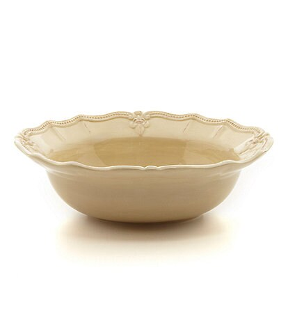 Artimino Fleur-de-Lis Beveled Earthenware Serving Bowl