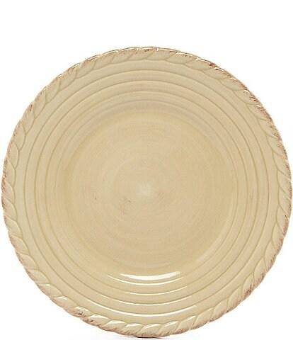 Artimino Tuscan Countryside Rope-Edged Stoneware Dinner Plate