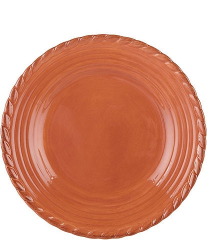 Artimino Tuscan Countryside Rope-Edged Stoneware Dinner Plate