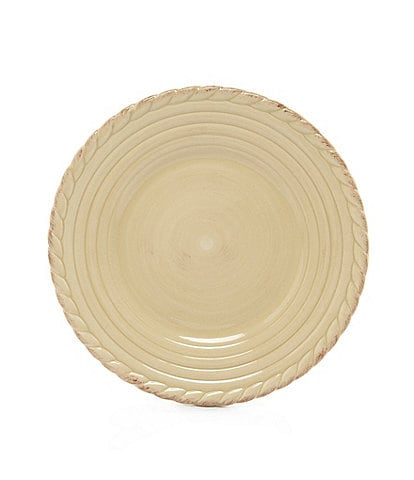 Artimino Tuscan Countryside Rope-Edged Stoneware Salad Plate