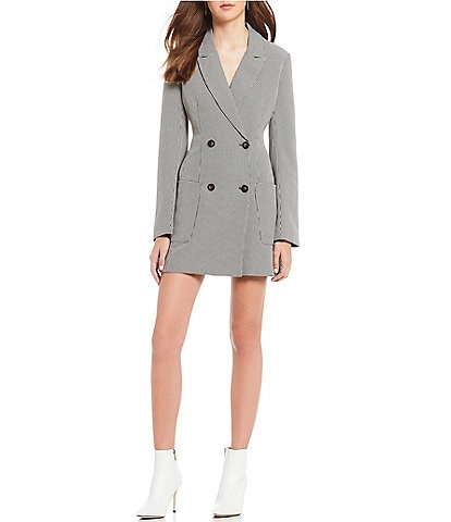ASTR the Label Double Breasted Mini Blazer Dress