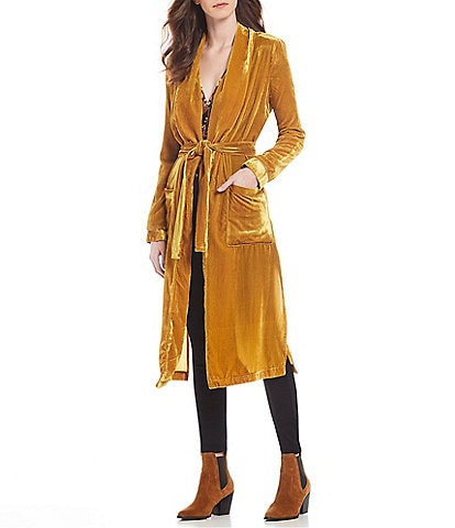 ASTR the Label Estelle Long Velvet Jacket
