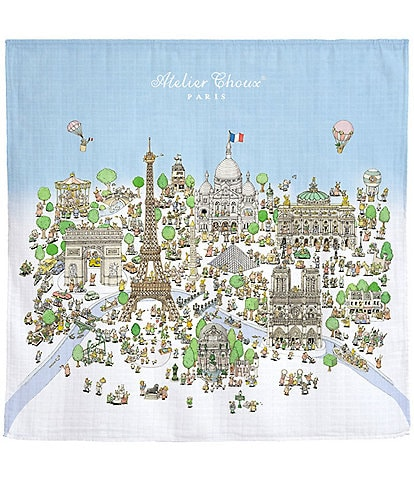 Atelier Choux Paris Baby Atelier Choux's Paris Swaddle Blanket with Gift Box