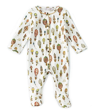 Atelier Choux Paris Baby 3-6 Months Long-Sleeve Hot Air Balloon Footed Playsuit
