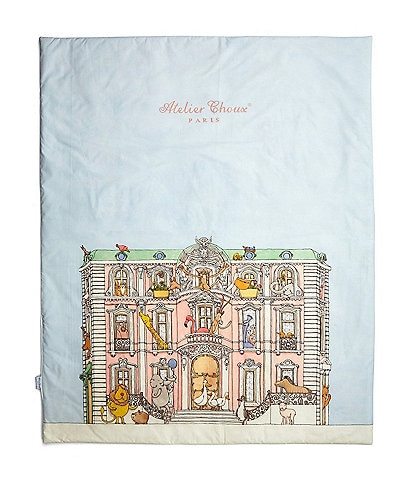 Atelier Choux Paris Baby Monceau Mansion & Hot Air Balloon Reversible Quilt