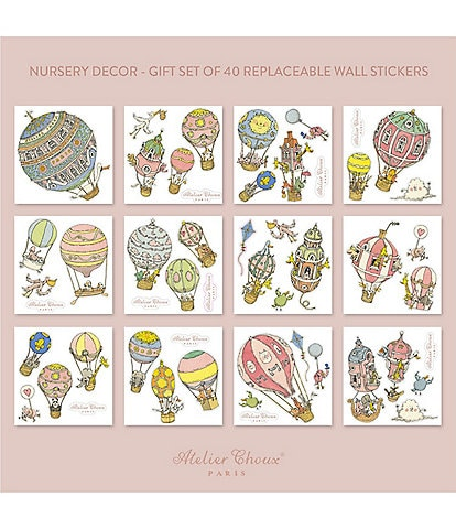 Atelier Choux Paris Baby Nursery 20-Pack Wall Stickers