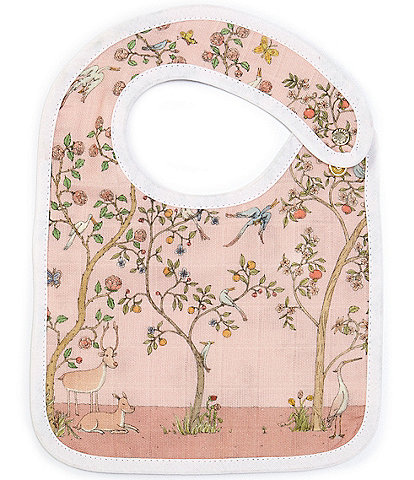 Atelier Choux Paris Baby Organic Cotton In Bloom Reversible Small Bib