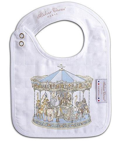 Atelier Choux Paris Organic Cotton Carousel Small Baby Bib