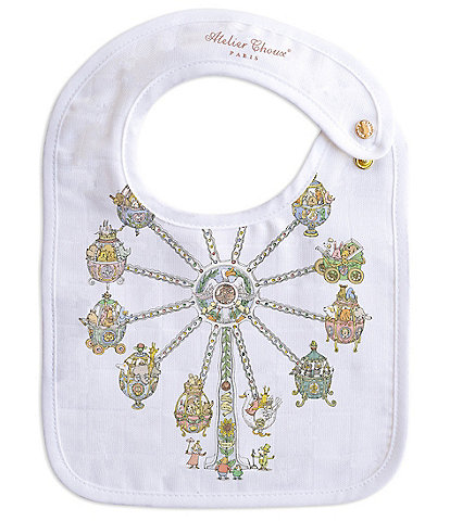 Atelier Choux Paris Organic Cotton Ferris Wheel Small Baby Bib