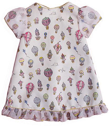 Atelier Choux Paris Toddler Girls 2-5 Hot Air Balloons Velour Party Dress