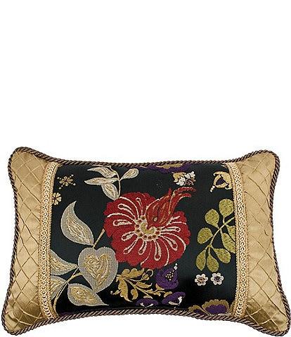 Austin Horn Classics Escapade Pieced Floral & Diamond Boudoir Pillow