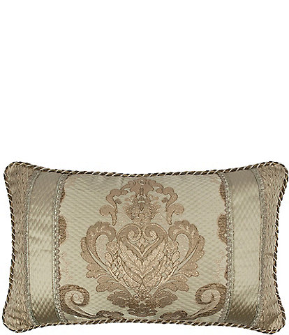 Austin Horn Classics Prosper Embroidered Medallion Boudoir Pillow
