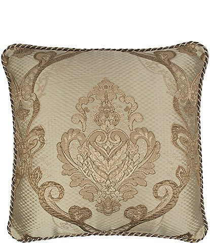 Austin Horn Classics Prosper Embroidered Medallion Square Pillow