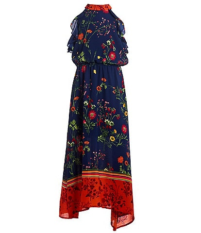 Ava & Yelly Big Girls 7-16 Floral Border-Hem Maxi Dress