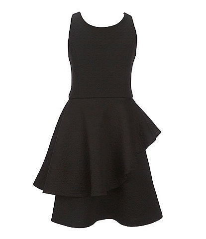 Ava & Yelly Big Girls 7-16 Double Sided Knit Peplum Dress
