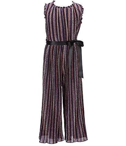 Ava & Yelly Big Girls 7-16 Lurex Stripe Jumpsuit