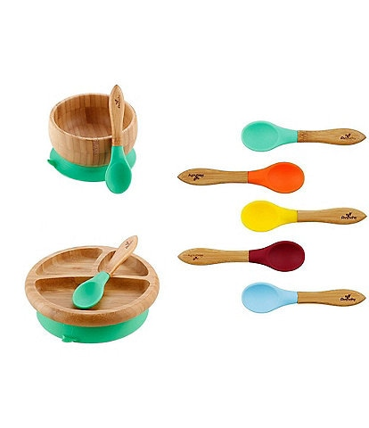 Avanchy Baby Rainbow Feeding Bowl/Plate/Spoon Gift Set