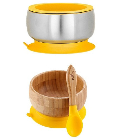 Avanchy Baby/Toddler Sustainable Essentials Bowl/Spoon Feeding Set