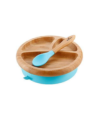 Avanchy Bamboo Suction Baby Feeding Plate & Spoon