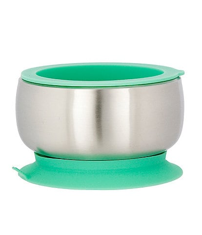 Avanchy Stainless Steel Suction Baby Feeding Bowl & Air Tight Lid