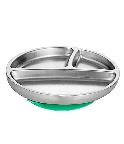 Avanchy Stainless Steel Suction Toddler Feeding Plate