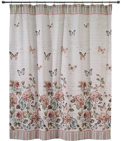 Avanti Linens Butterfly Garden Shower Curtain