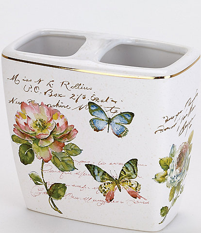 Avanti Linens Butterfly Garden Toothbrush Holder