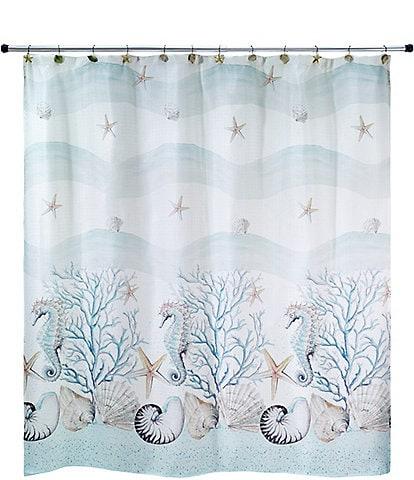 Avanti Linens Coastal Terrazzo Shower Curtain