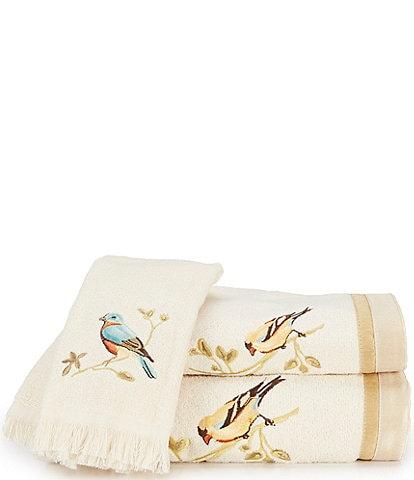 Avanti Linens Gilded Birds Bath Towels
