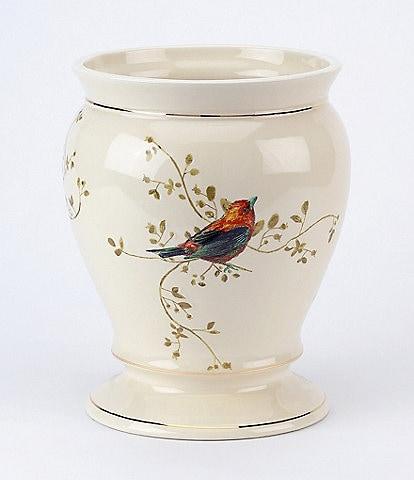 Avanti Linens Gilded Birds Ceramic Wastebasket