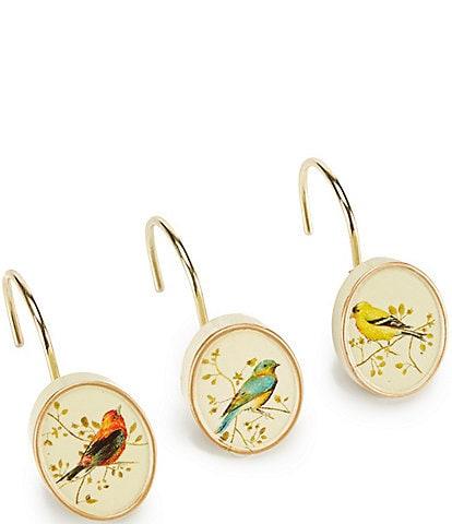 Avanti Linens Gilded Birds Shower Hooks - Set of 12
