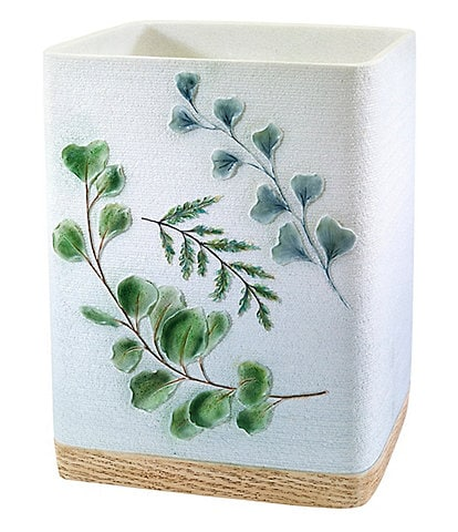 Avanti Linens Ombre Leaves Wastebasket