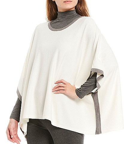 Aventura Cecily Contrast Trim Jersey Knit Poncho
