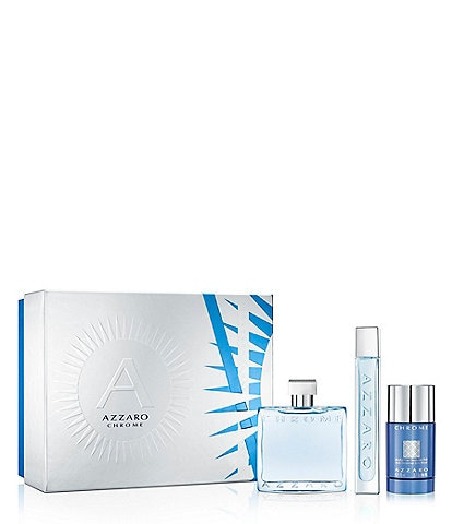 Azzaro Chrome 3-Piece Gift Set