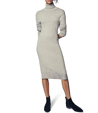 b new york Fine Gauge Turtleneck Long Sleeve Sweater Dress