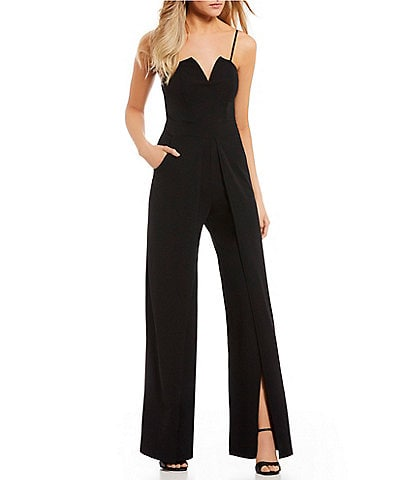 B. Darlin Notched Neckline Jumpsuit